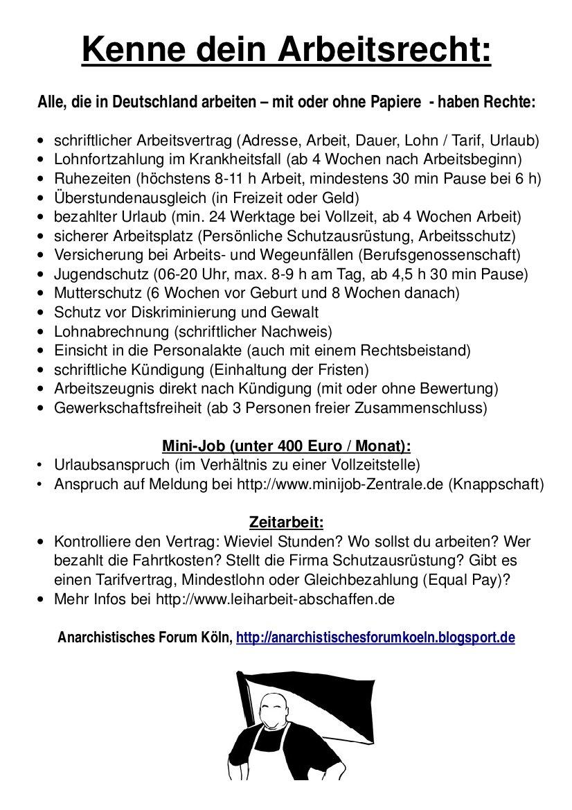 Arbeitsrecht deutsch