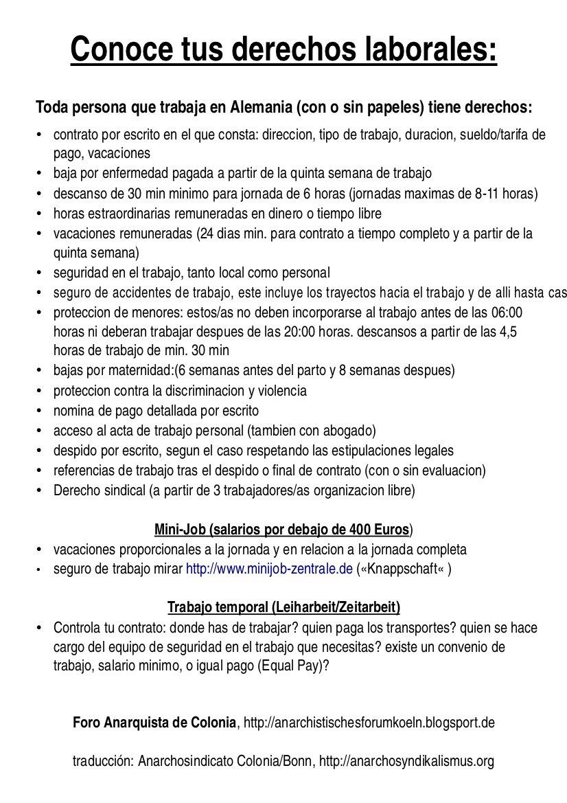 Arbeitsrecht spanisch