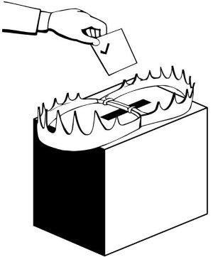 Vorsicht: Wahlurne!